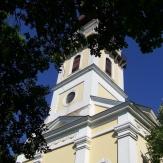 Nagybánhegyes - Evangélikus templom, főtér